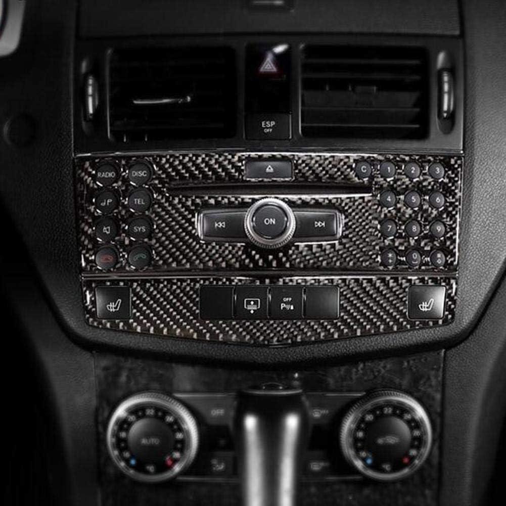 Car Interior Trim Carbon Fiber Center Console Navigation Panel Trim Decoration Sticker Fit for C Class W204 2005-2012