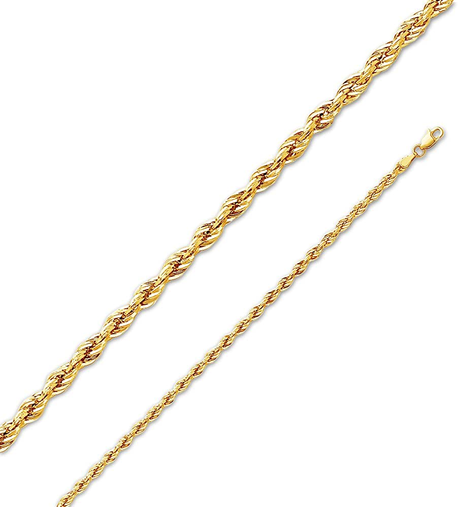 Sonia Jewels 14k Yellow Gold Valentino Star Diamond-Cut Chain Necklace With Lobster Claw Clasp
