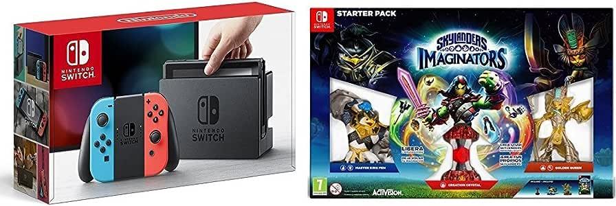 Nintendo Switch - Consola, color azul neón/rojo neón + Skylanders Imaginators: Amazon.es: Videojuegos