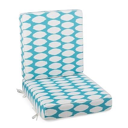Amazon Com Lakeside Hinged Outdoor Deep Seating Cushion Made W