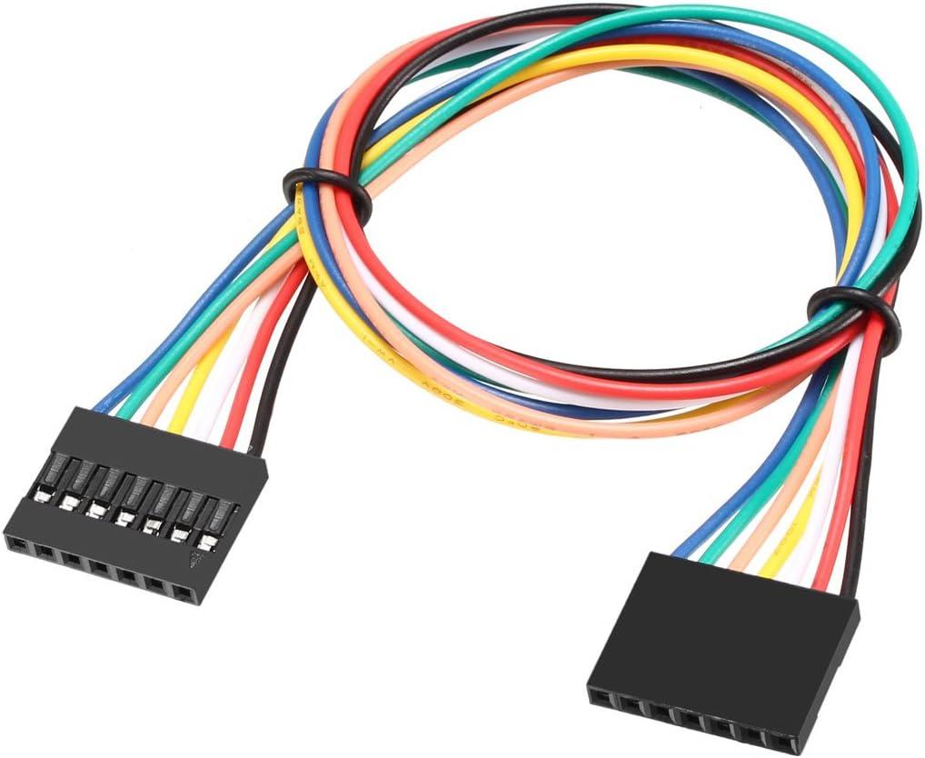 Sourcingmap 100/Buchse auf Buchse 2P Jumper Draht 2,54/mm Pitch Flachbandkabel Steckplatine DIY 31/cm a18050400ux0348