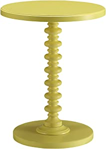 ACME Furniture 82802 Acton Side Table, Yellow, One Size