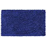 Vdomus Non-Slip Microfiber Shag Bathroom Mat (20x32 Inch, Blue)
