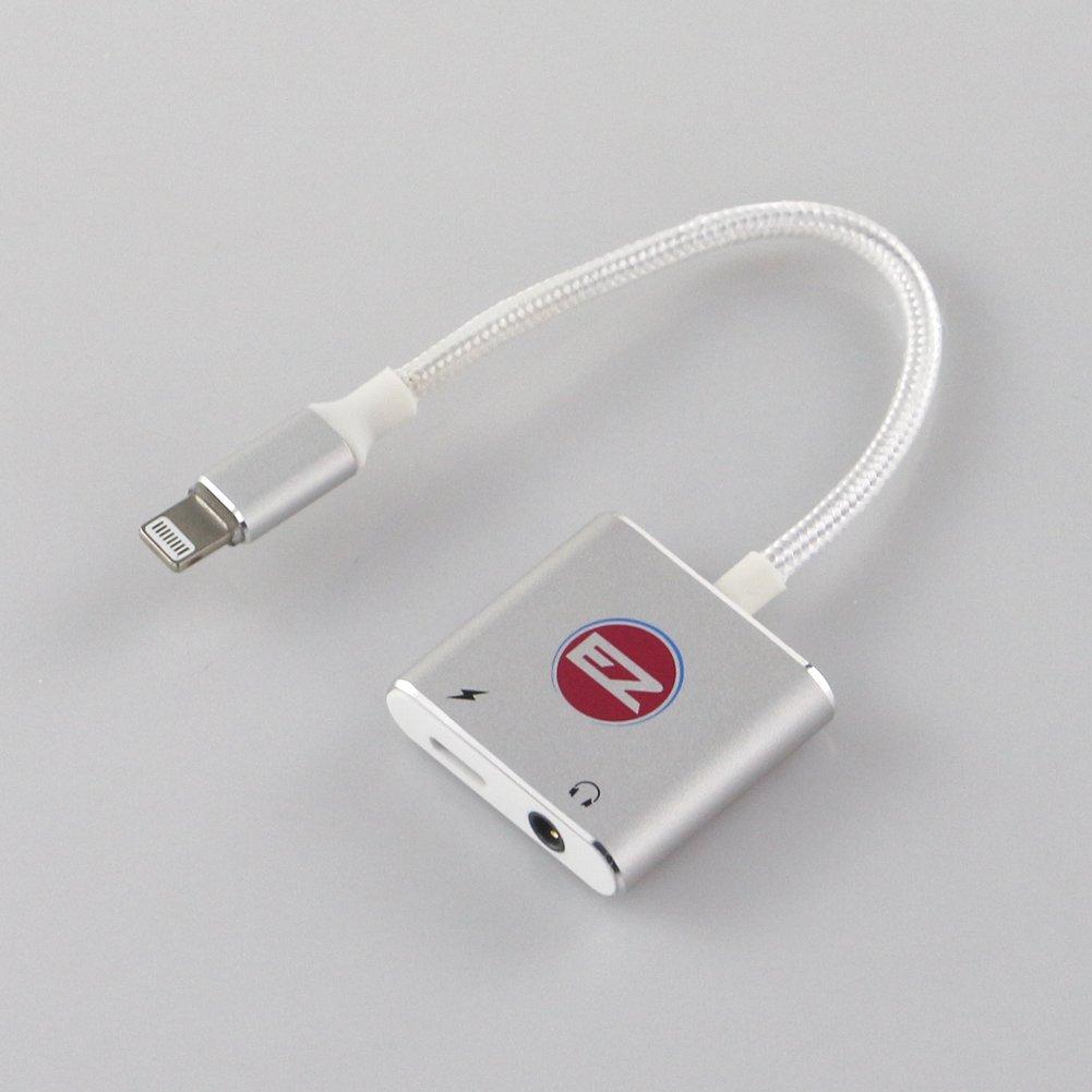 i4 LLCヘッドフォン/ Earphone Adapter For iPhone 7 and 7 Plusオーディオアダプタ、充電アダプタ、iPhoneアダプタ2 in 1ライトニング3.5 MMヘッドホンアダプタケーブルby i4 シルバー  シルバー B01MU0GSRM