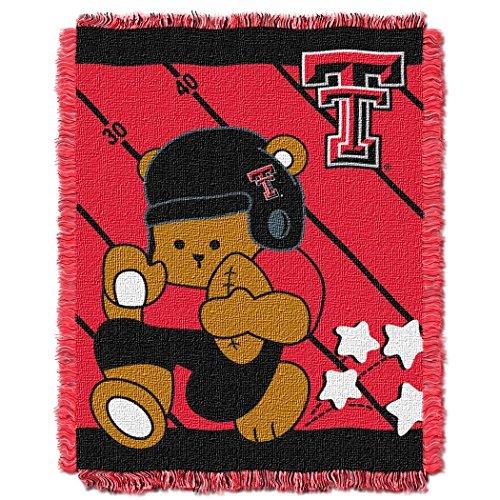 Northwest COL 044 NCAA Texas Tech Red Raiders Fullback Woven Jacquard Baby Throw Blanket, 36x46-Inch