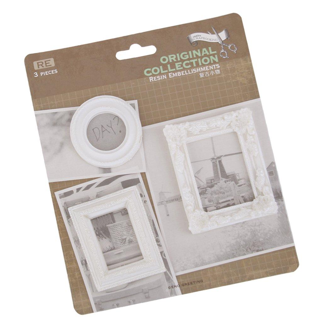 Homyl 3er Set Mini Bilderrahmen Fotorahmen Oval quadratisch ...