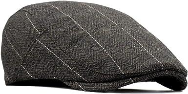Newsboy Moda Vintage Estilo Brit/ánico Casquillo BESBOMIG Hombres de Estilo Newsboy Casquillo Plano Sombreros Boina