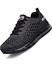 b9c8e69e933 Men Women Running Shoes Sports Trainers Shock Absorbing Sneakers for  Walking Gym Jogging Fitness Athletic Casual