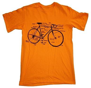 60b7c07b Amazon.com: Happy Family Retro Racing Bike Diagram Mens T-Shirt: Clothing