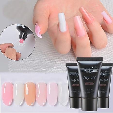 Amazon.com : Exteren Nail Gel Tips Extension Camouflage Builder Gel Lack Glue Nail Extension Set Nail Art Supplies Nail Art Kit (D) : Beauty