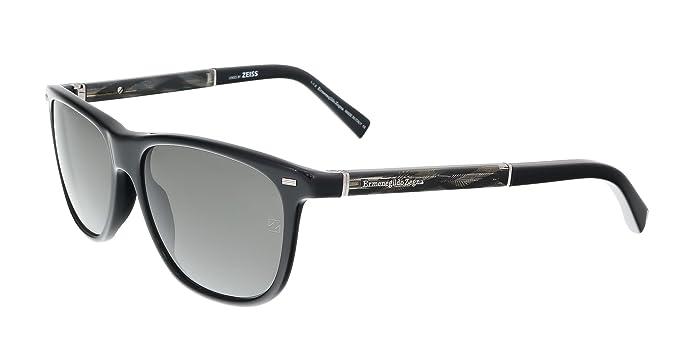 fc6603313e Amazon.com  Sunglasses Ermenegildo Zegna EZ 9 EZ0009 01A shiny black ...