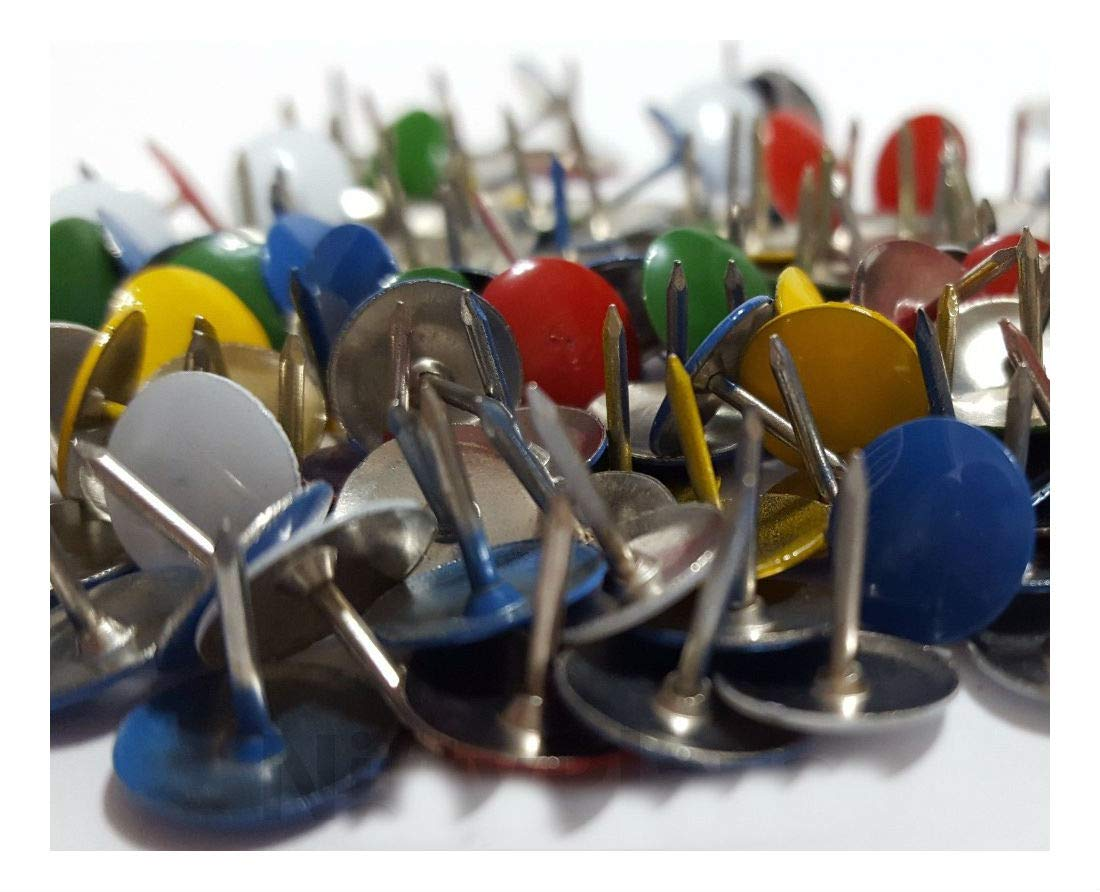 400 Assorted Color Push Pin Thumb Tacks Multi Color Head Office Home by Unknown (Image #4)