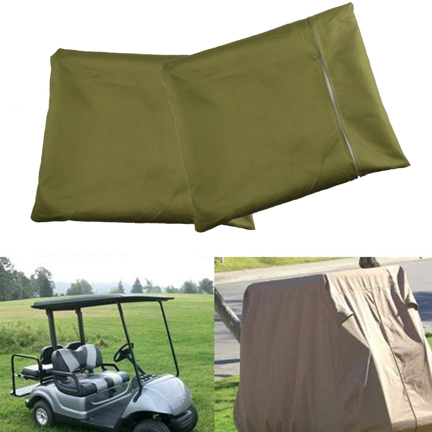 Plum Garden 4 Passenger Waterproof Golf Cart Cover for EZ Go Club Car Yamaha Cart