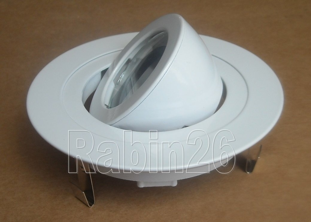 4'' Inch Recessed Ceiling CAN Light 12V MR16 Adjustable Ring Gimbal Trim WHITE