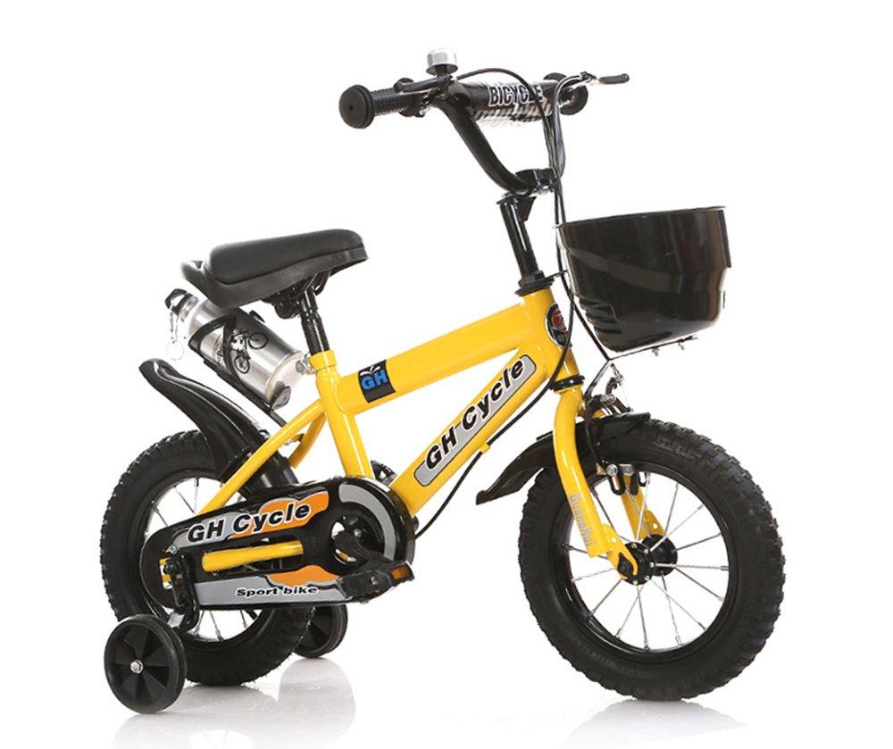 ベビーカー、男性と女性のサイクリング、子供用自転車 ( 色 : イエロー いえろ゜ , サイズ さいず : 115cm ) B078KNGV6W イエロー いえろ゜ 115cm