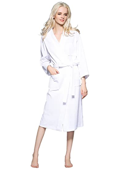 ca08a612c2 VERNASSA Unisex Terry Cloth Robe Hotel Spa Bathrobe Kimono Robes at ...