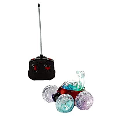 Mindscope Turbo Twisters RED 27 MHz Bright LED Light Up Stunt RC Remote Control Vehicle: Toys & Games