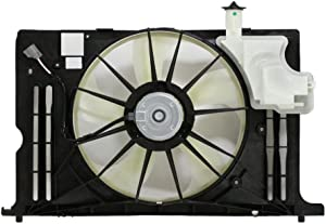 Dual Radiator and Condenser Fan Assembly - Cooling Direct For/Fit TO3115181 14-19 Toyota Corolla