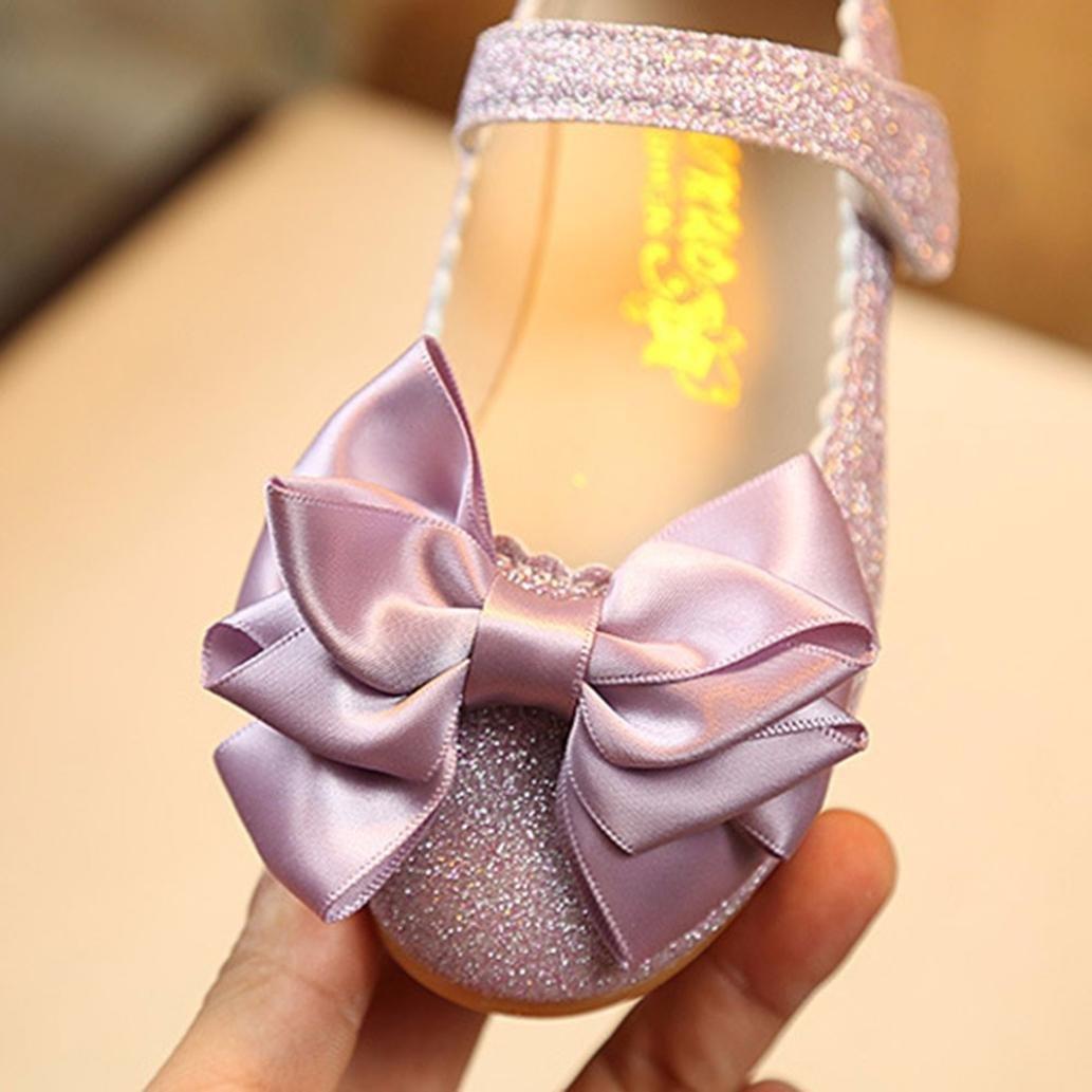 Sunbona Toddler Little Girls Dance Ballet Flats Princess Mary Jane Slip On Ballerina Dance Shoes
