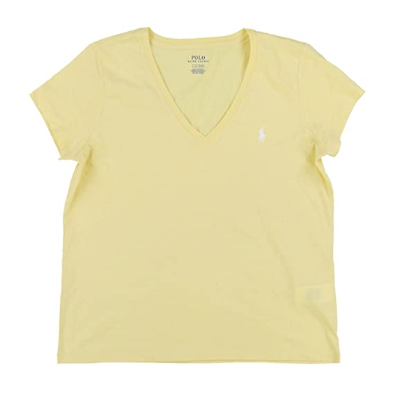 Polo Ralph Lauren Women S Pony Logo V Neck Tee Amazon Co Uk Clothing