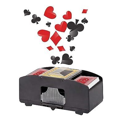 Wei Shang - Máquina de Saltar automático, Dos Tablas, Profesional, para Tarjetas de Casino, Color Negro y plástico: Deportes y aire libre