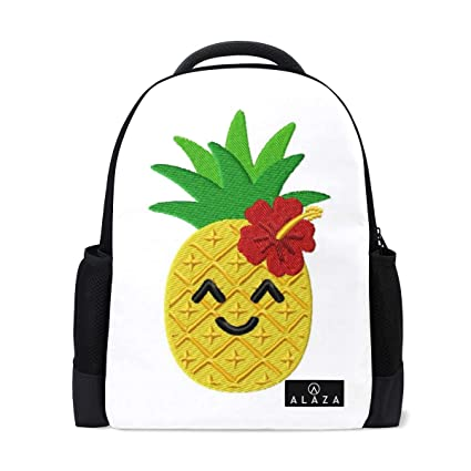35c7d48e0595 Amazon.com: Backpack Cool Pineapple with Flower Womens Laptop ...