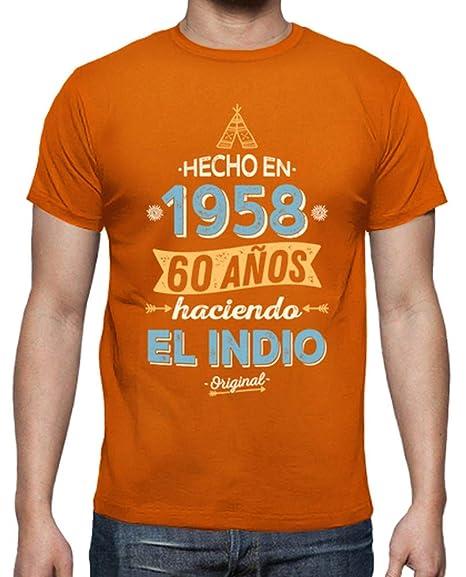 latostadora - Camiseta 1958 60 Aos Haciendo para Hombre: hello: Amazon.es: Ropa y accesorios