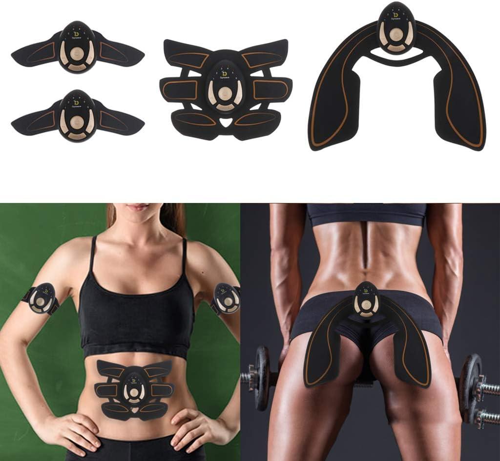6 Modos y 11 Niveles de Intensidad para Abdomen//Pierna//Brazo DYNWAVE Electroestimulador Muscular Abdominales y Gluteos Estimulador Muscular
