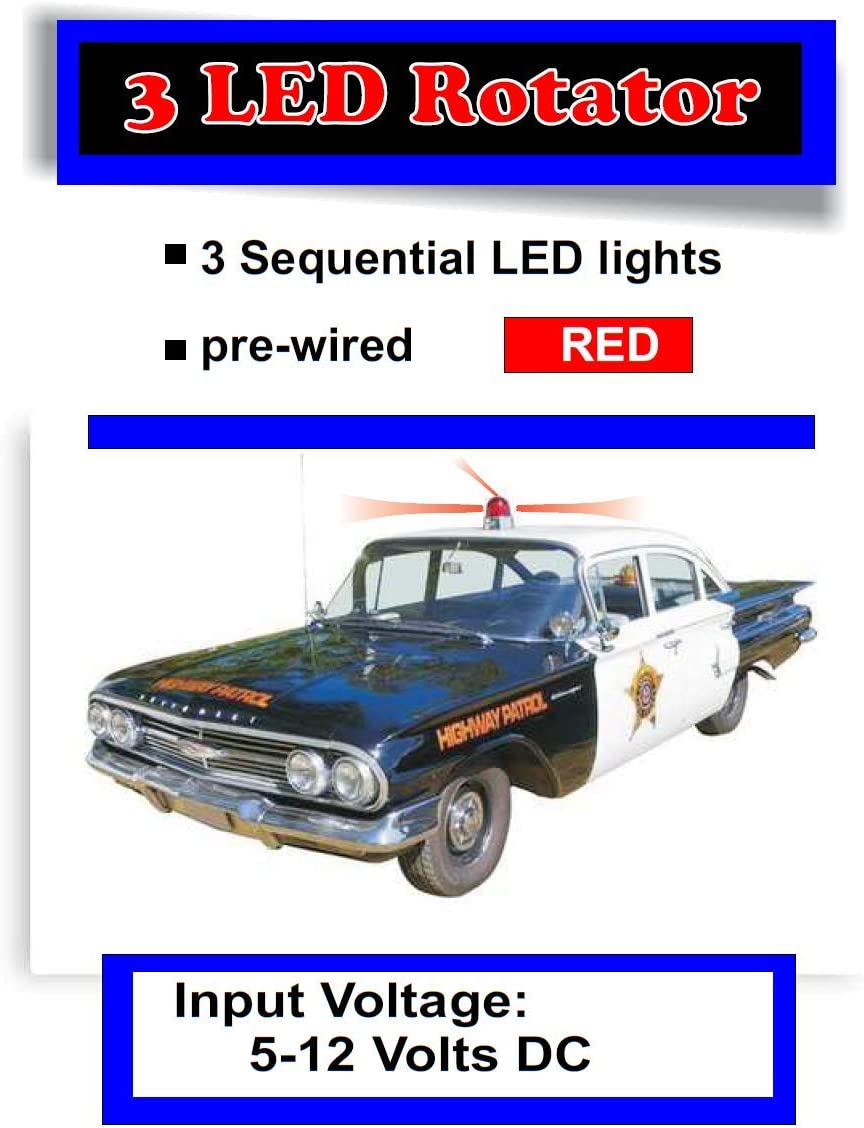 Blue Runs on a 9 Volt Battery Evan Designs LED Rotating Circuit for 1960s Drones and More 1970s Diecast Police Cars Sci-Fi Models