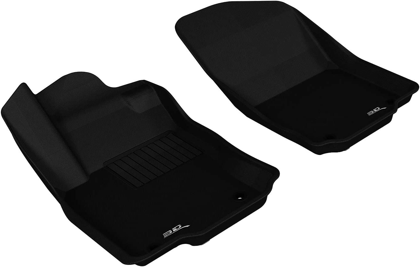 Black 3D MAXpider Complete Set Custom Fit All-Weather Floor Mat for Select Mercedes-Benz GLE-Class// ML-Class Models Kagu Rubber