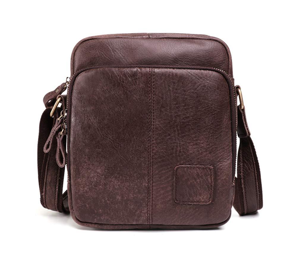 ROOKLY Echtes Vintage Hunter Leder Handgefertigt Herren Leder Alltäglichen Crossover Schulter Arbeit Tablet Messenger Bag,grau