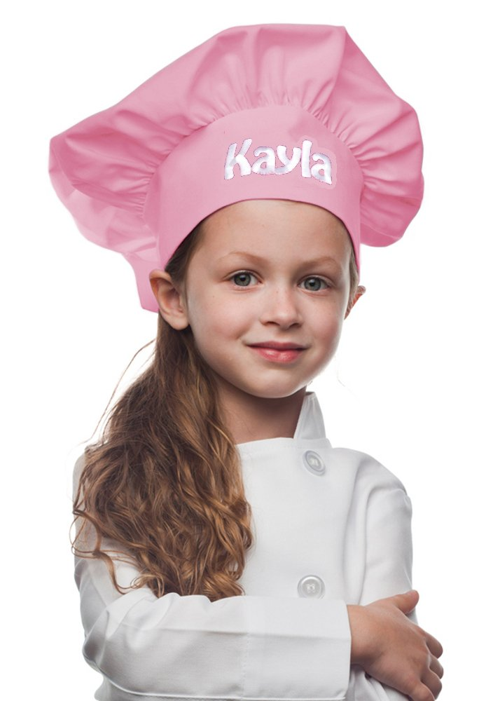 My Little Doc Personalized Pink Kids Chef Hat, Poly/Cotton Twill Fabric
