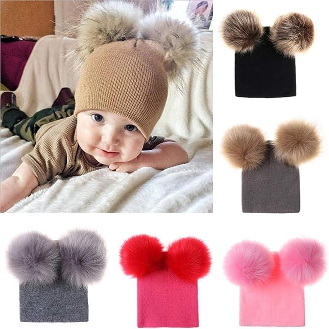 GZQ Gorras para bebé, Sombreros del Punto para Invierto, Sombrero ...