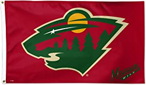 WinCraft Minnesota Wild Red Flag NHL Hockey 3 x 5 Foot Flag