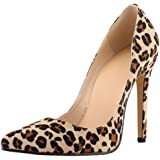 Women's Fashion Animal Print Stiletto Heels Dress Pumps