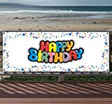 Happy Birthday 13 oz Heavy Duty Vinyl Banner Sign with Metal Grommets, New, Store, Advertising, Flag, (Many Sizes Available)