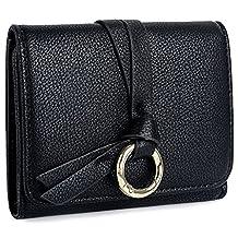UTO Women's PU Leather Wallet Key Ring Card Holder Organizer Girls Cute Coin Purse