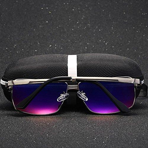 caballo de deporte al aluminio de libre haixin Gafas magnesio Silver de hombres aire conducción polarizantes sol gafas sol copas 78Pwgq