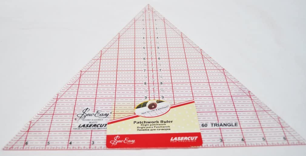 """SewEasy Triangle Patchwork Ruler 8.5/"""" x 7/"""" Template Quilting Sewing Lasercut"""