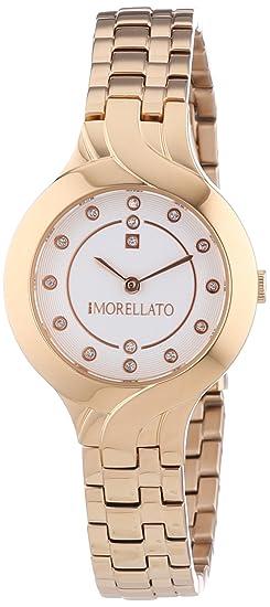Morellato Time R0153117503 - Reloj Analógico Para Mujer, color Blanco/Oro Amarillo: Morellato: Amazon.es: Relojes