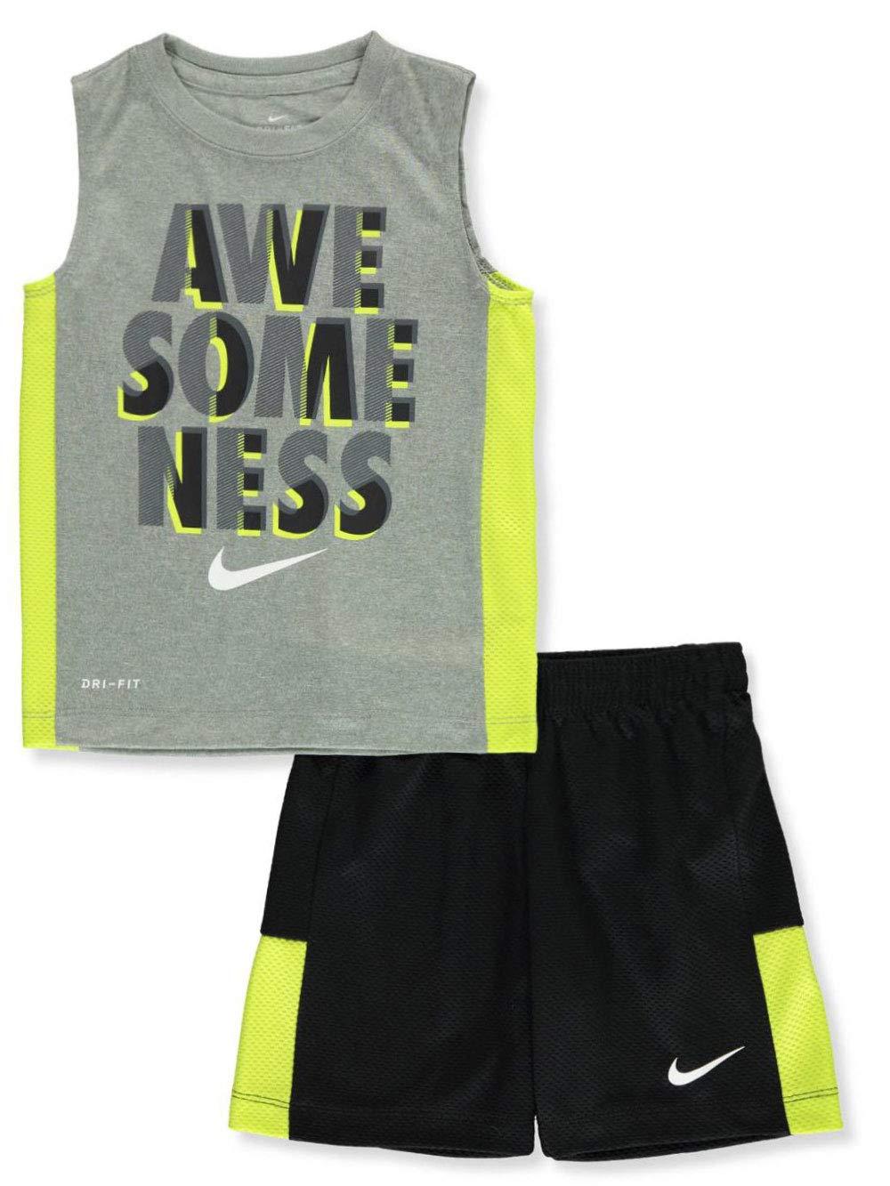 Nike Boys' 2-Piece Shorts Set Outfit - Black/Gray, 7