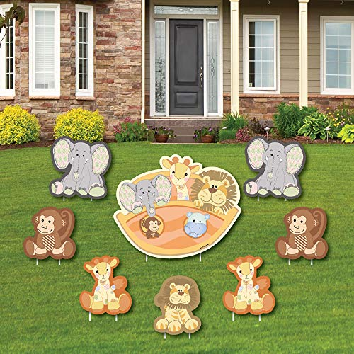 Noah's Ark - Yard Sign & Outdoor Lawn Decorations - Baby Shower Yard Signs - Set of 8