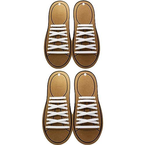 Shackcom sin Corbata Cordones de Zapatos para Adultos Cordones de ...