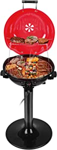 Techwood Electric BBQ Grill 15-Serving Indoor/Outdoor Electric Grill for Indoor & Outdoor Use, Double Layer Design, Portable Removable Stand Grill, 1600W
