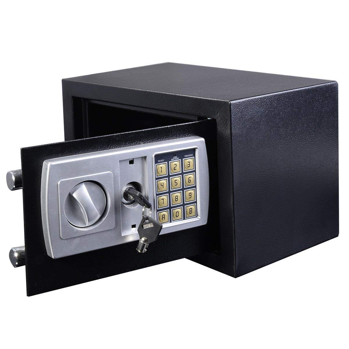 Home Office ign/ífuga Segura e Impermeable Caja de Seguridad de Acero Digital tama/ño Mini