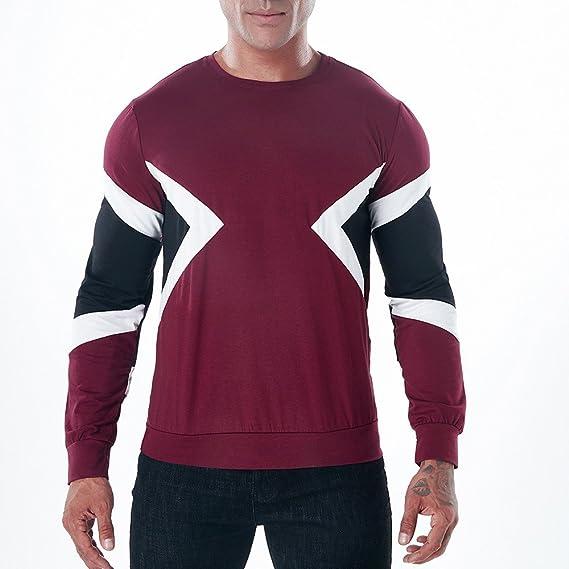 Naturazy Sweater SuéTer Hombre Invierno, La Blusa Superior Delgada De Manga Larga De La Camiseta