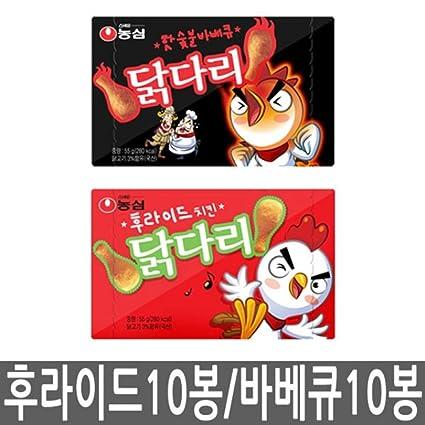Nongshim Patas de pollo fritas Snack 10 paquetes + carbón ...