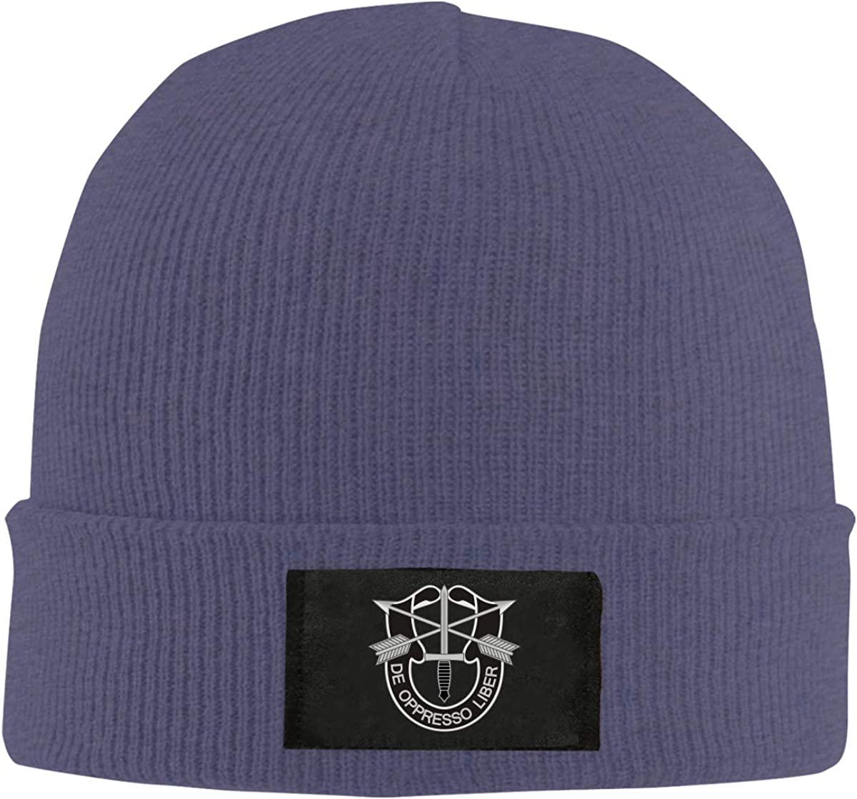 Army Special Forces Logo Unisex Warm Winter Hat Knit Beanie Skull Cap Cuff Beanie Hat Winter Hats