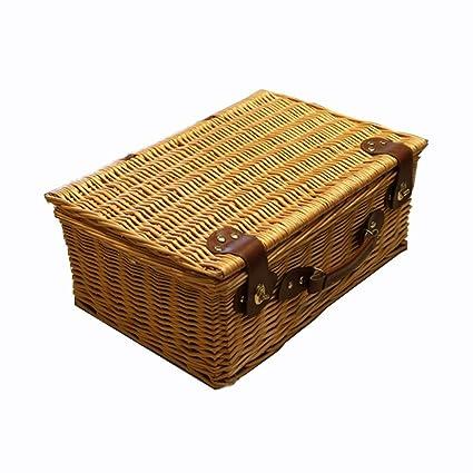 Inicio Caja de almacenamiento de mimbre Caja de picnic de mimbre de salida Cesta de fruta