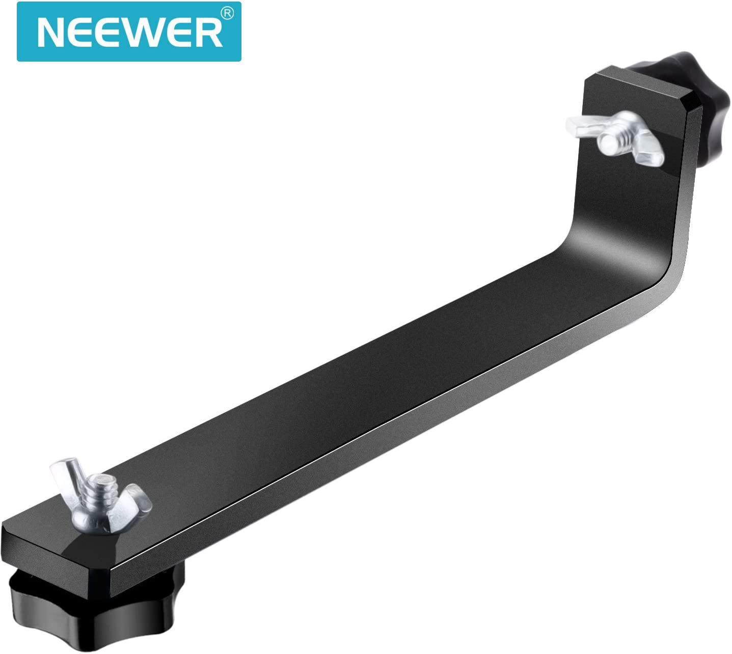 Neewer Mounting L-Bracket of Camera Crane for LCD LED Monitor with 1//4-inch Screw Hole
